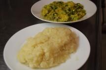 Garri and Okro soup